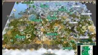 Civ 5 AI Only Timelapse: Settled Barbarians