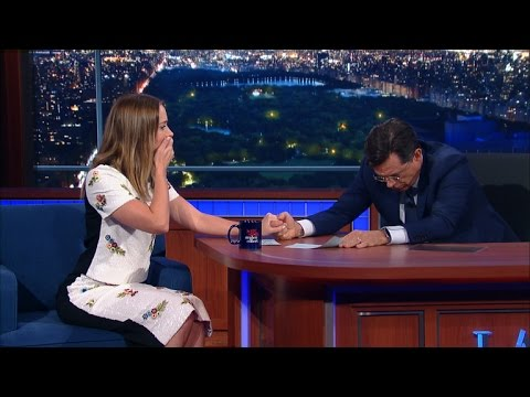 Stephen & Emily Blunt Have A Fake Vomit-Off