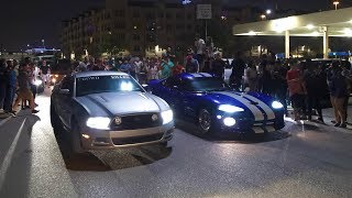 ILLEGAL STREET RACERS Turn Parking Lot Into A DRAG STRIP!!! (NO COPS SHOWED UP!)