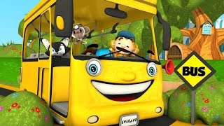 Wheels on the Bus | Yellow Wheels on the Bus | Kindergarten Song for Kids by Little Treehouse S01E05