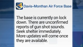 Arizona Air Force base on lockdown