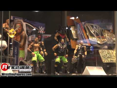 Mattel Wwe Preview Night Display - Sdcc 2014 New Mattel Wwe Wrestling Figures San Diego Comic Con video