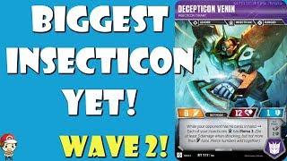 Decepticon Venin – Biggest Insecticon Comes to the Transformers TCG! (Wave 2)