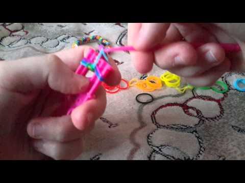 Как сделать рыбку из резинок видео на станке