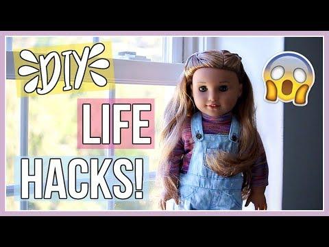 DIY AG DOLL LIFE HACKS! | American Girl Doll Life Hacks You NEED to Know!