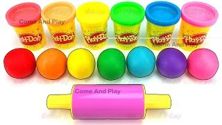Learn Colors with Play Doh Balls and Ball Cups Surprise Toys