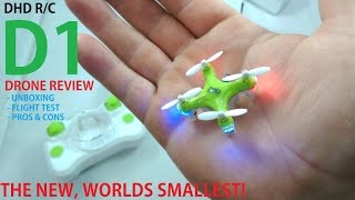 D1 Super Nano Drone Review - The new WORLDS SMALLEST [Unboxing, Flight Test, Pros & Cons]