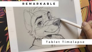 reMarkable Fox Sketch Timelapse