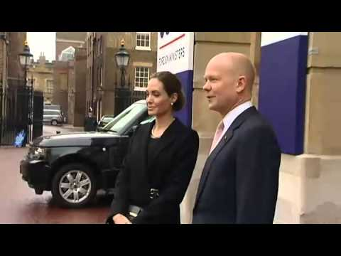 Angelina Jolie joins William Hague G8 agreement to tackle war zone rape