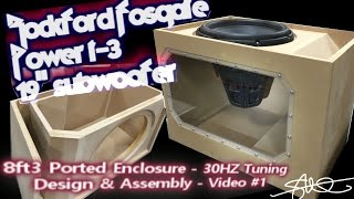 "Massive Subwoofer, Massive Ported Box (Build)  Rockford Fosgate Power T3 19"" Plexi Window VIDEO 1"