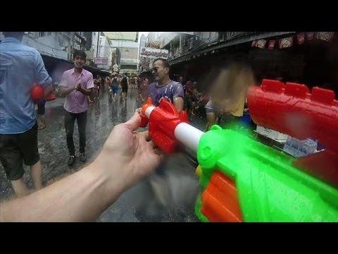 Songkran festival brings watery chaos to Bangkok