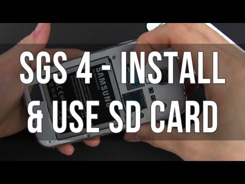Samsung Galaxy S4 - micro SD card - how to install, format and use