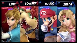 Super Smash Bros Ultimate Amiibo Fights   Request #3923 Bowser & Link vs Mario & Zelda