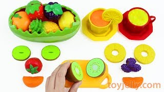 Fun Kinder Surprise Eggs Learn Colors Names of Fruit and Vegetables with Velcro Cutting Kids Toys