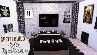 The Sims 4 Speed Build   MOVIE ACTOR APARTMENT + CC Links