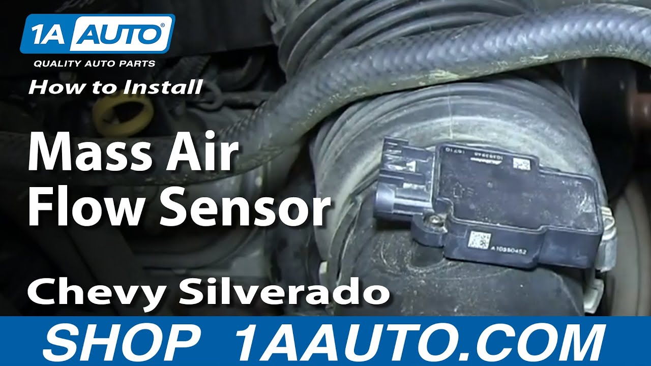 how to install replace mass air flow sensor 2009