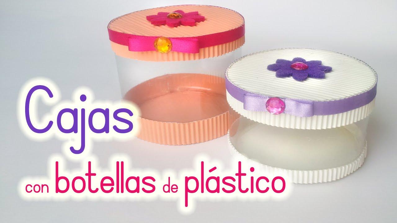 Manualidades cajas con botellas de pl stico reciclaje for Cajas personalizadas con fotos