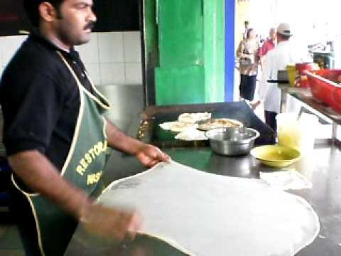 making Roti Canai @ Kuala Lumpur Malaysia