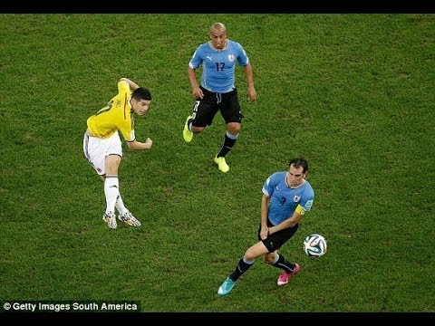 James Rodriguez Goal -  World Cup 2014 Goal of the Tournament - Colombia vs Uruguay