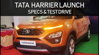 Tata Harrier Launch Party | Test Drive | Specs and Features info