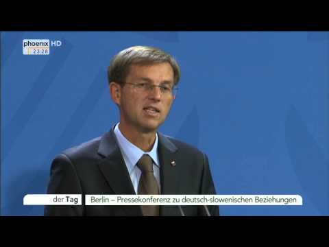 PK: Angela Merkel und Miro Cerar zu deutsch-slowenischen Beziehungen am 30.10.2014