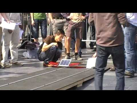 Small Solar Vehicle race 2010 GroepT KULeuven round 1 - Team Greased Lightning