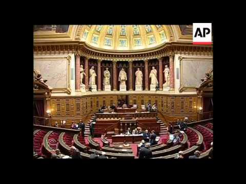Ships wait at sea due to strike; Grandpuits refinery; senate debate