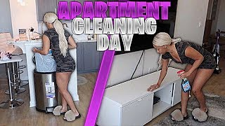 WATCH ME CLEAN MY ENTIRE APARTMENT!! (EXTREME CLEANING MOTIVATION)
