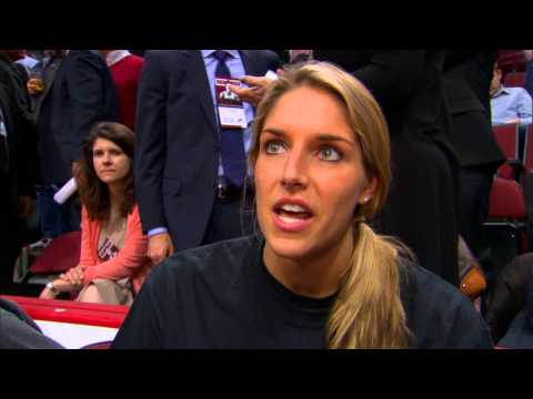 Elena Delle Donne Attends a Chicago Bulls Playoff Game