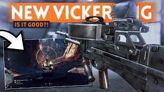 NEW VGO MMG VICKERS MACHINE GUN: Is It Good?! - Battlefield 5 Overture Weapon Unlock