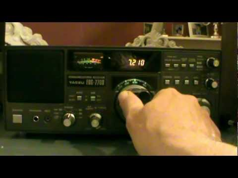 YAESU FRG 7700 80m amateurs, vollmet radio and some other stuff