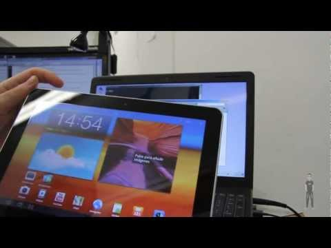 Tablet Samsung Galaxy Tab 10.1 3G. Compartir recursos entre PC y