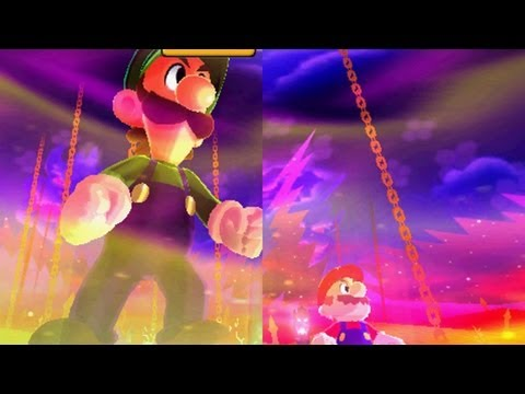 Mario and Luigi: Dream Team -  Giant Bowser Battle