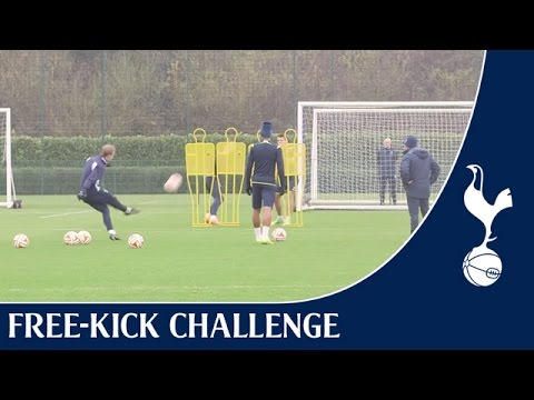 Free-kick Challenge ft. Eriksen, Lamela & Pochettino