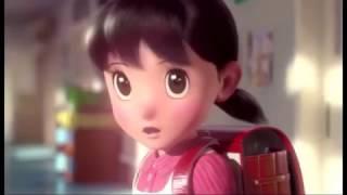 Mere Rashke Qamar in Doraemon versions360p