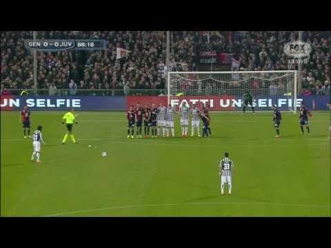 Andrea Pirlo Free kick Goal   Genoa vs Juventus 0 x 1