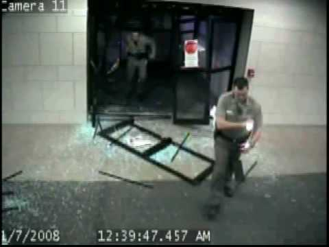 Surveillance Vid: Man Drives Through City Hall Building