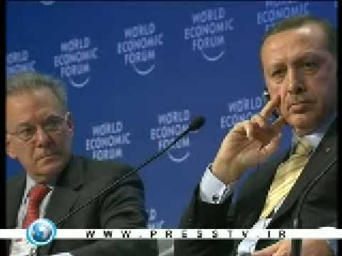 Turkish Premier Recep Tayyip Erdogan has stormed out of a Davos forum after a heated debate presstv