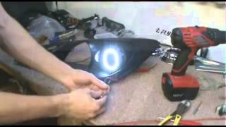 FlyRyde Genesis Coupe Black Headlights with White LED Angel Eyes + Install Guide