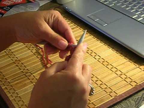 Como tejer guantes sin dedos, parte 1
