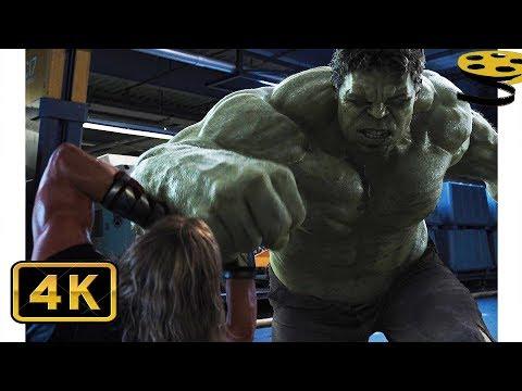 Халк против Тора. Битва на Геликарриере   Мстители   4K ULTRA HD
