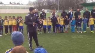 Discours du directeur technique à l'issue du dernier entraînement de l'école de foot - 20/12/2014