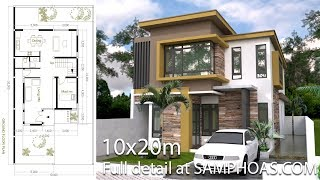 (22.3 MB) SketchUp Modern Home Plan Size 8x12m With 3 Bedroom Mp3