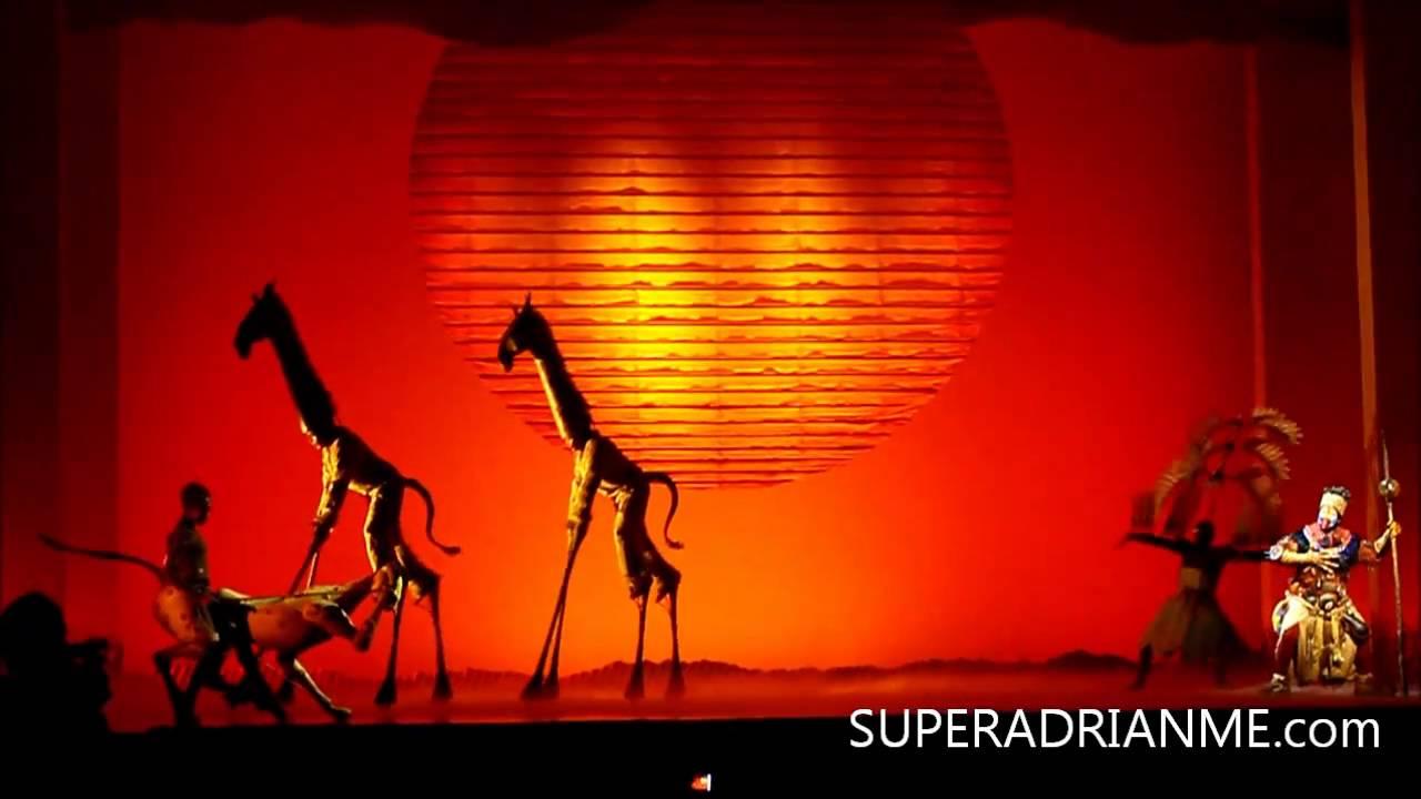 Musical Singapore Lion King Lion King Musical Marina Bay