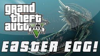 Grand Theft Auto 5 | Sea Monster Easter Egg! (GTA V)