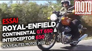 Royal-Enfield Continental GT et Royal-Enfield Interceptor - Essai Moto Magazine