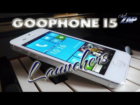 Goophone i5 N2 Launcher Hands-on - Apple iPhone 5 Fake / Clone / Copy? MT6577 ColonelZap