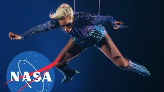 LADY GAGA WITH NASA (Lady Gaga Super Bowl Halftime Show 2017)