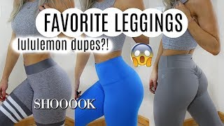 MY all time Favorite leggings + TRY ON | Lululemon DUPES | valerie pac