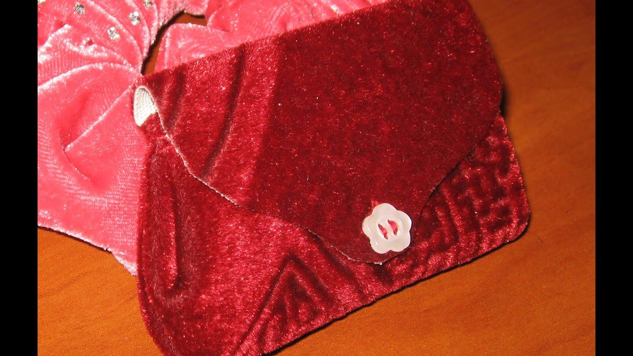 Кошелек поделка из ткани 99